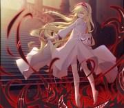 wallpaper anime girl blonde elf
