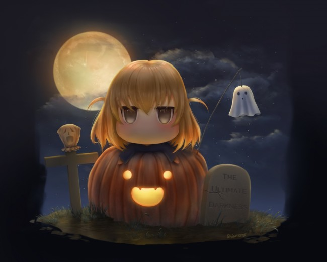Cute Pumpkin Wallpaper Iphone Wallpaper Shibasaki Roka D Frag Chibi Cute Halloween