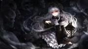wallpaper gothic anime girl skulls