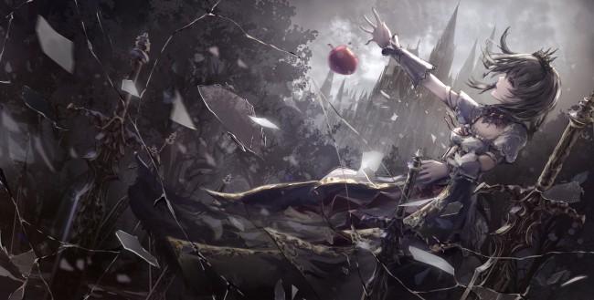 Ecchi Anime Demon Girl Wallpaper Android Wallpaper Anime Girl Dark Theme Apple Sword
