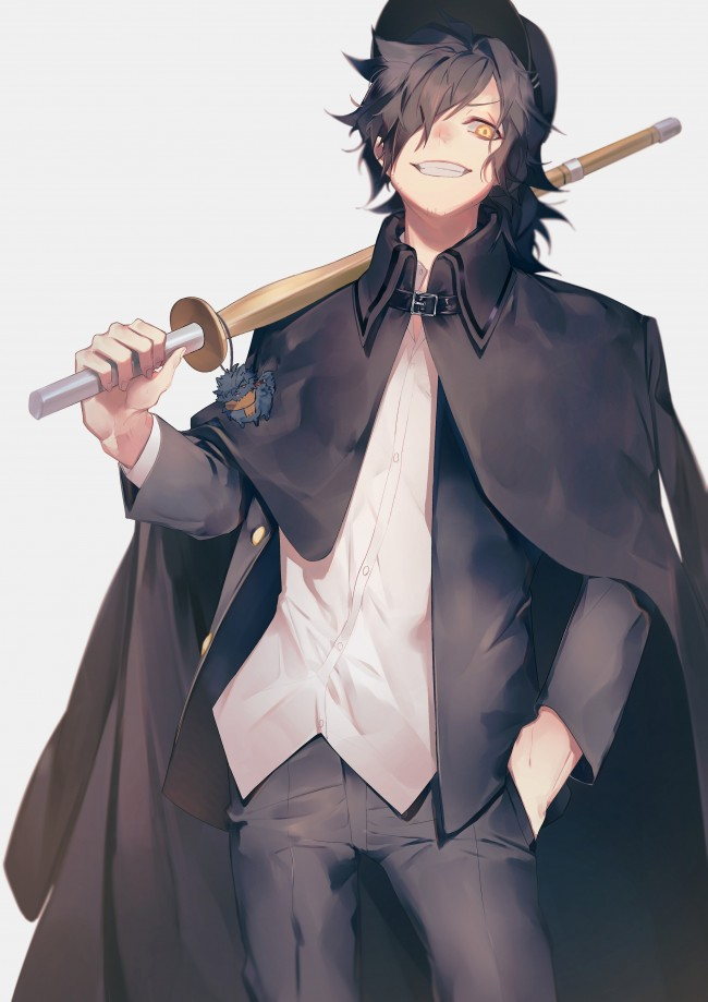 Cute Anime Boy Girl Phone Wallpaper Wallpaper Fate Grand Order Assassin Cape Anime Boy