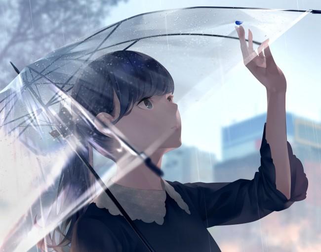Anime Cat Girl Iphone Wallpaper Download 1920x1080 Anime Girl Transparent Umbrella
