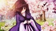 wallpaper anime girl brown hair