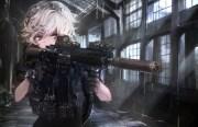 wallpaper anime military girl