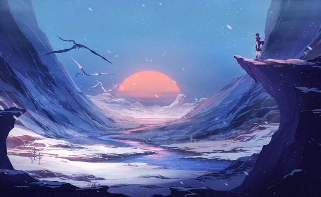 5 Inch Screen Hd Wallpapers Wallpaper Anime Boy Fantasy World Landscape Scenic