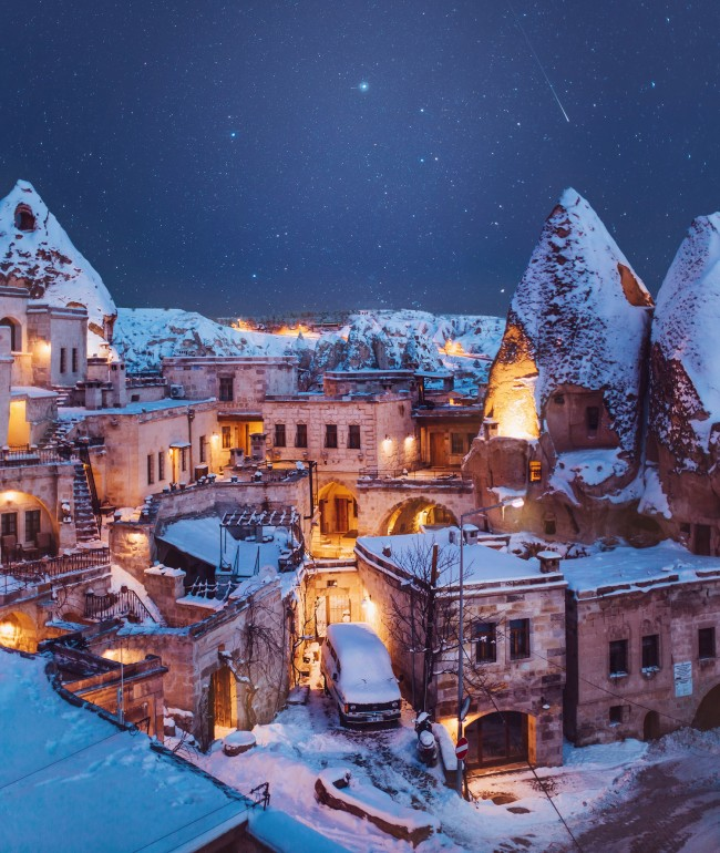 Turkey Wallpaper For Iphone Wallpaper Turkey Cappadocia Snow Scenic Winter