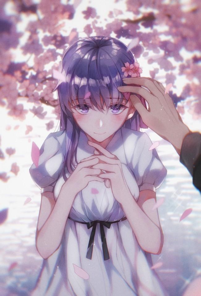 Anime Wallpaper Cherry Blossom Girl Wallpaper Matou Sakura Fate Stay Night Cherry Blossom