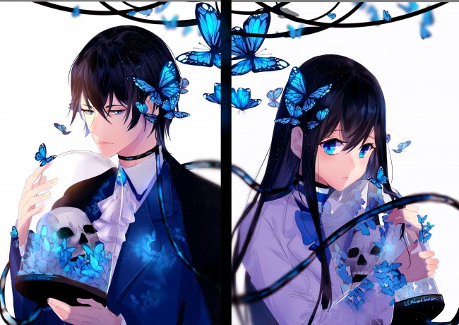 23 Wallpaper Anime Couple Terpisah Anime Wallpaper