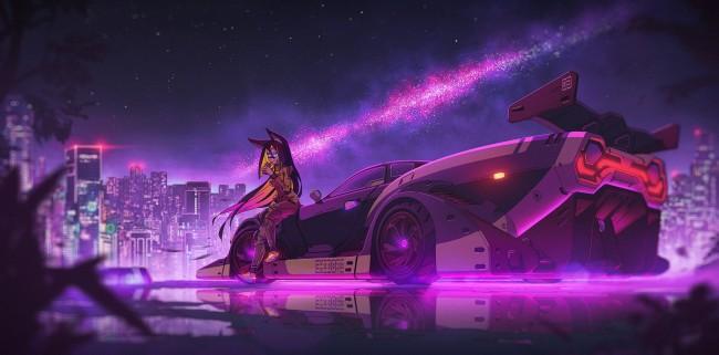 Sci Fi Iphone Wallpaper Wallpaper Anime Girl Futuristic Sci Fi Cyberpunk