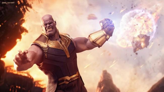 Thanos Wallpaper Iphone X Wallpaper Thanos Fist Villain Explosion Wallpapermaiden