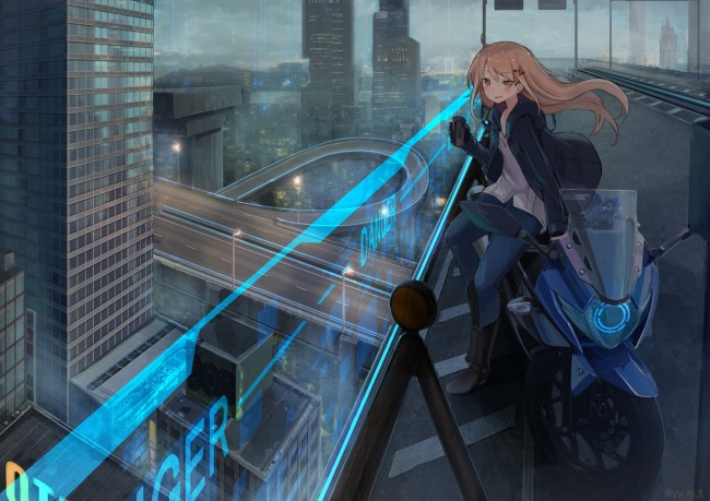Wallpaper Of Lonely Girl In Rain Wallpaper Anime Girl Futuristic City Skyscraper