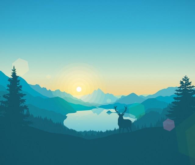 Firewatch Deer Forest Night