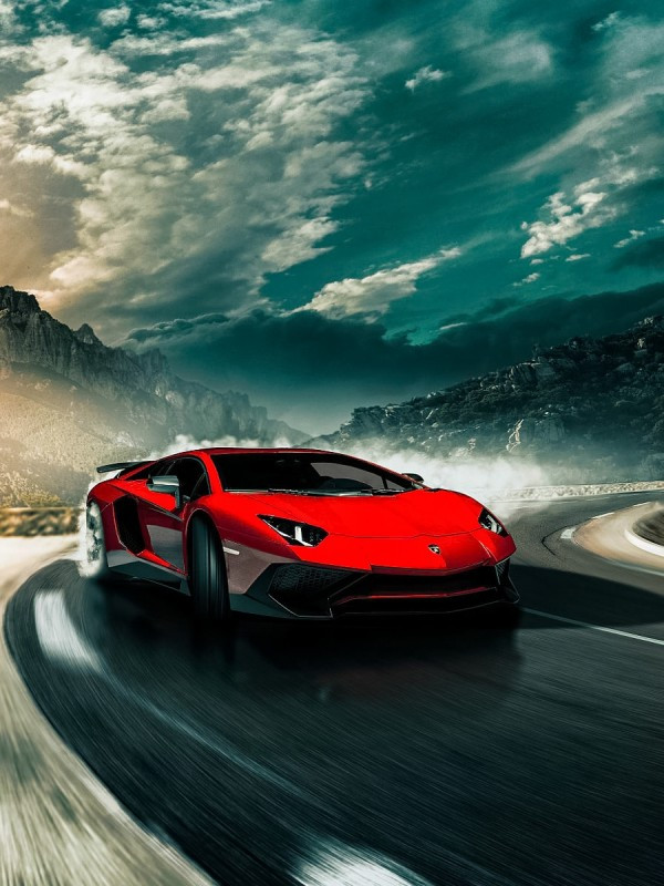 Follow the vibe and change your wallpaper every day! Download 600x800 Lamborghini Aventador Road Clouds Sky Red Cars Wallpapers For Nook Tablet Wallpapermaiden