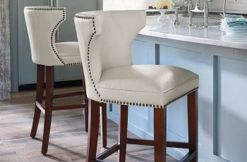 Ivory Leather Bar Stools