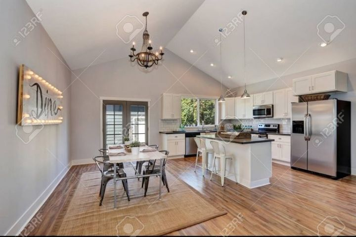 Kitchen With High Ceiling
