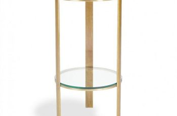 Small Round Bedside Table