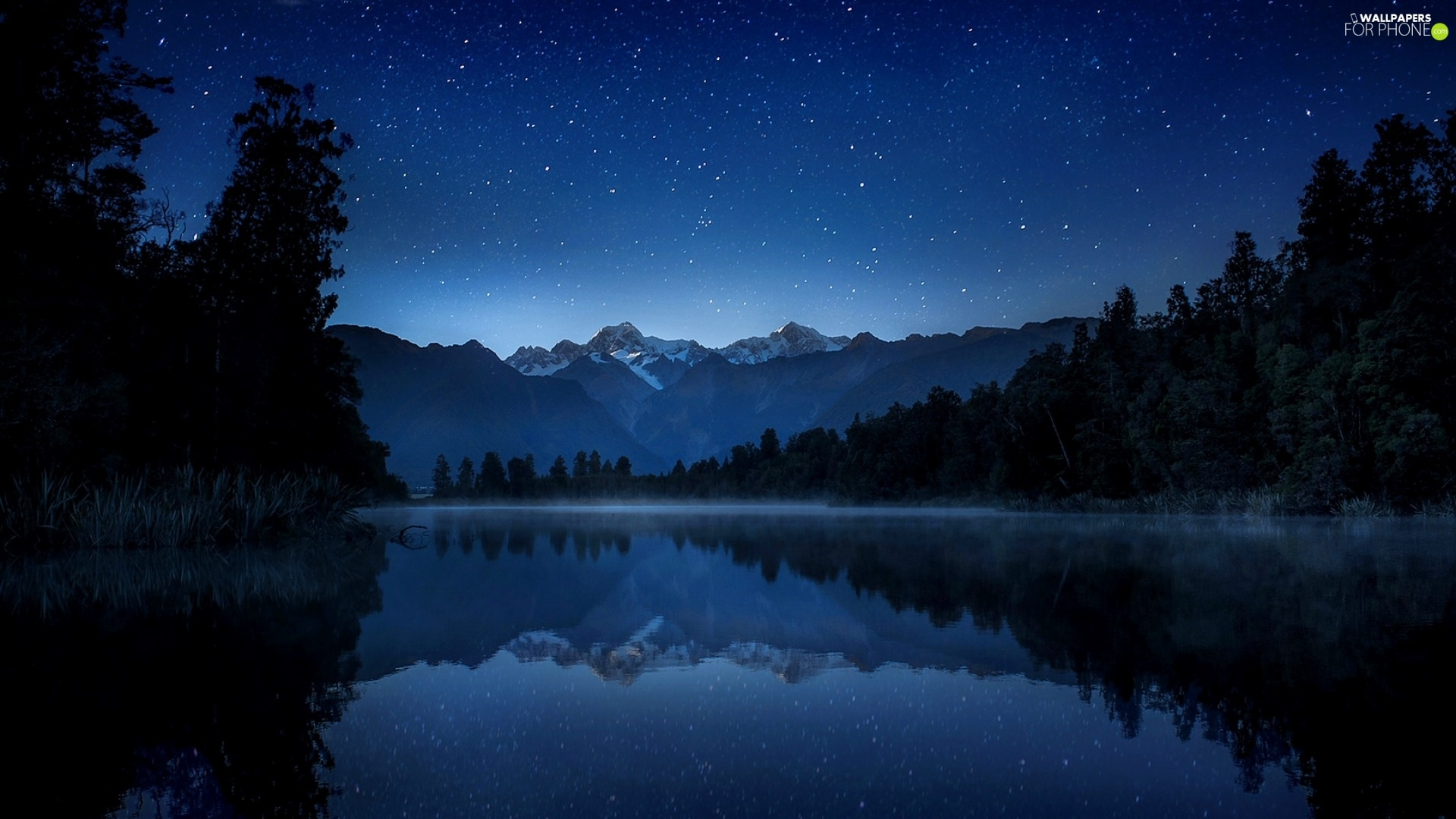 Android Animated Wallpaper Tutorial Fog Night Lake Forest Mountains For Phone Wallpapers