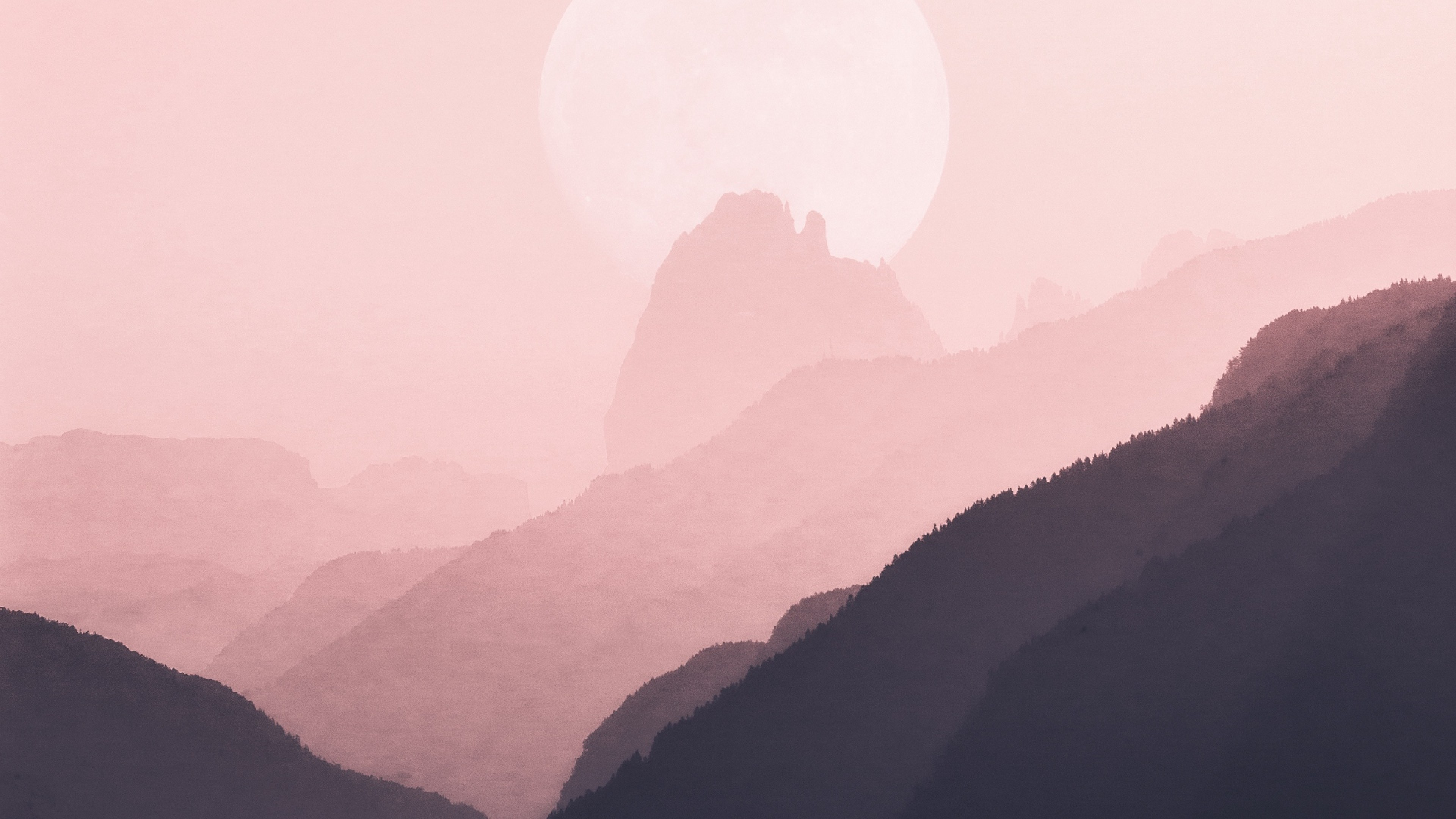 We hope you enjoy our growing collection of hd images to use as a background or home screen for your smartphone or computer. Pink sky over the mountains HD Wallpaper 4K Ultra HD - HD ...