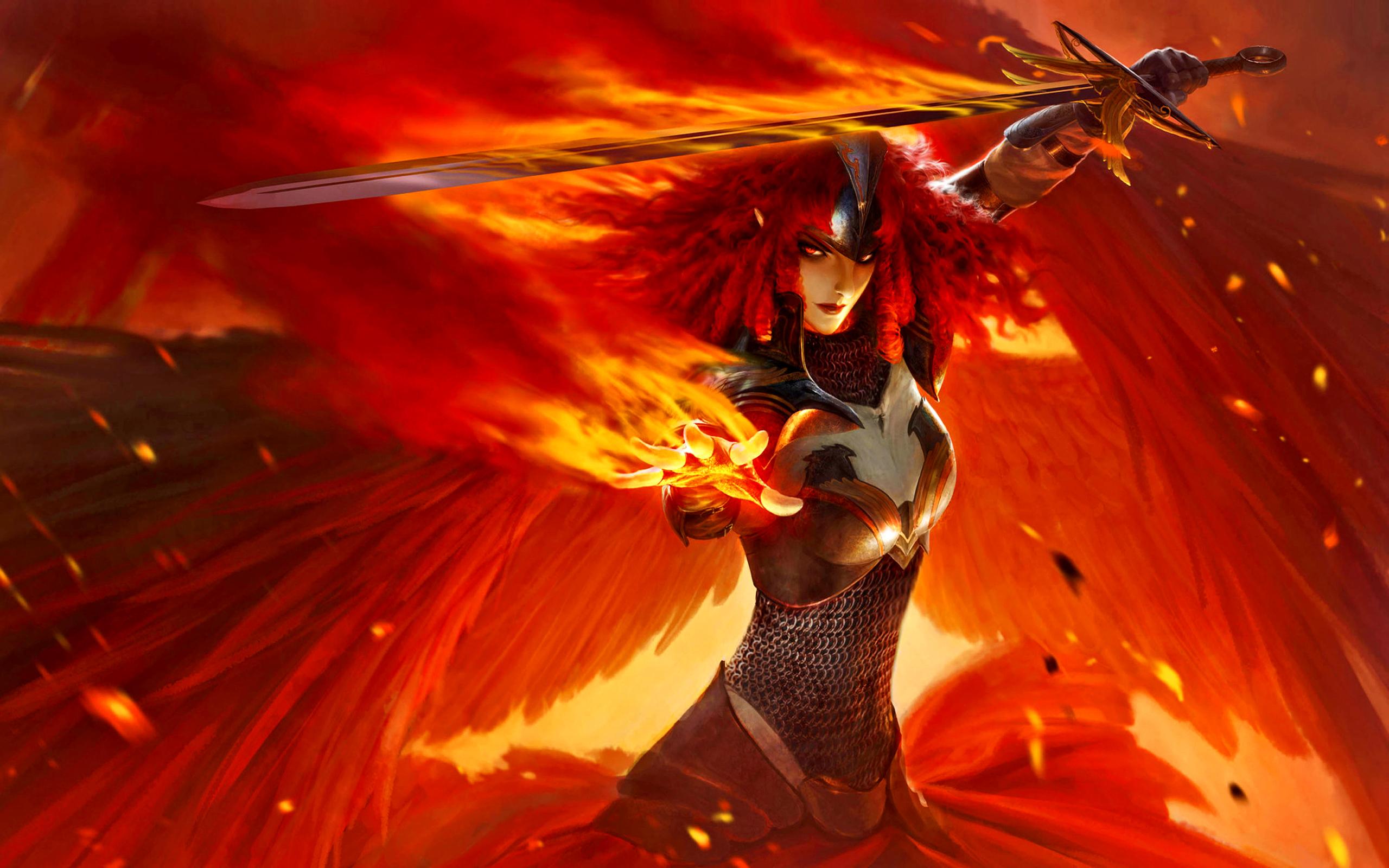 Mtg Iphone Wallpaper Angel Of Fire Wide Wallpaper 529114 Wallpapers13 Com