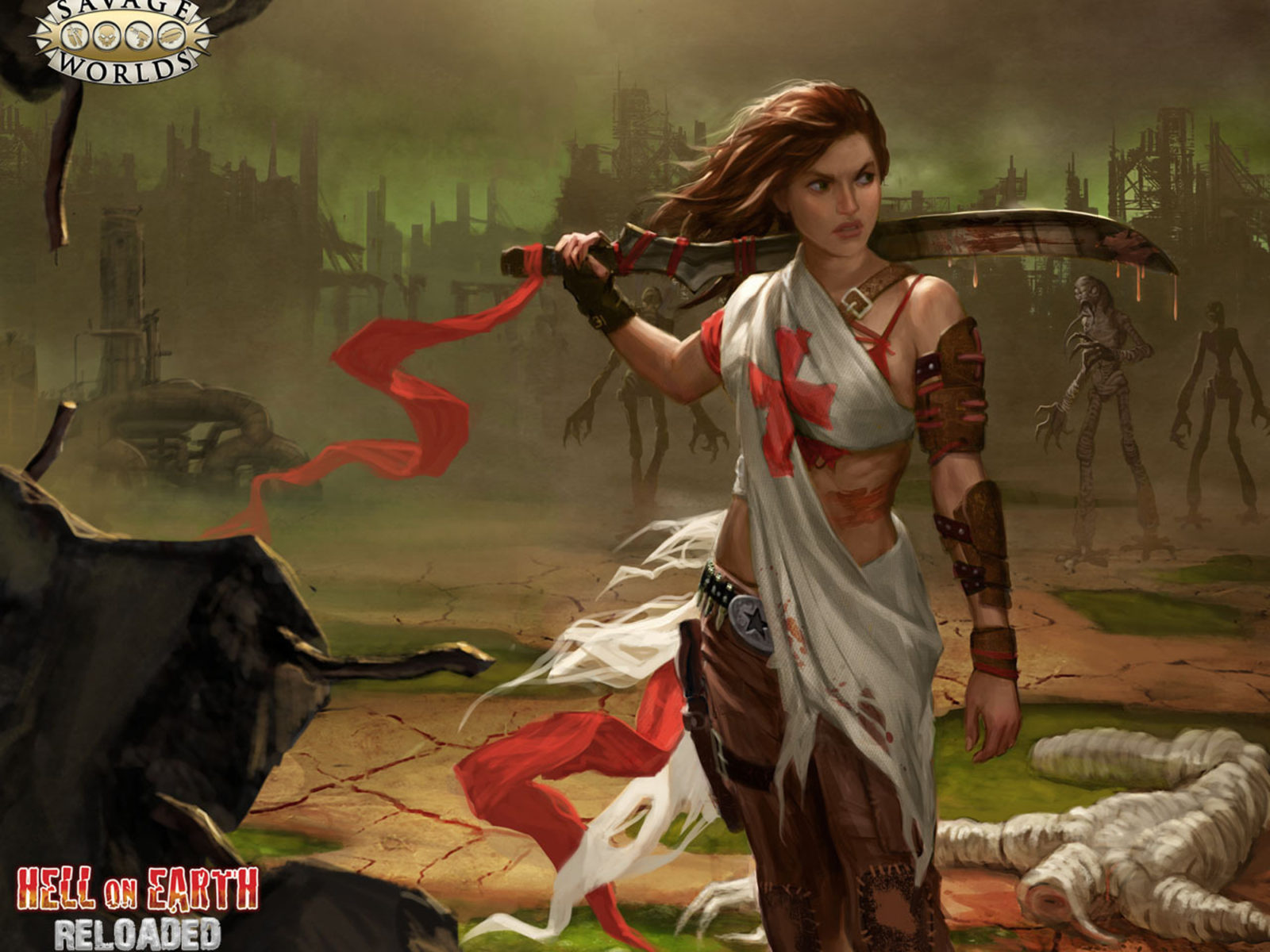 New Girl Hd Wallpaper Download Deadlands Hell On Earth Reloaded 2d Post Apocalyptic