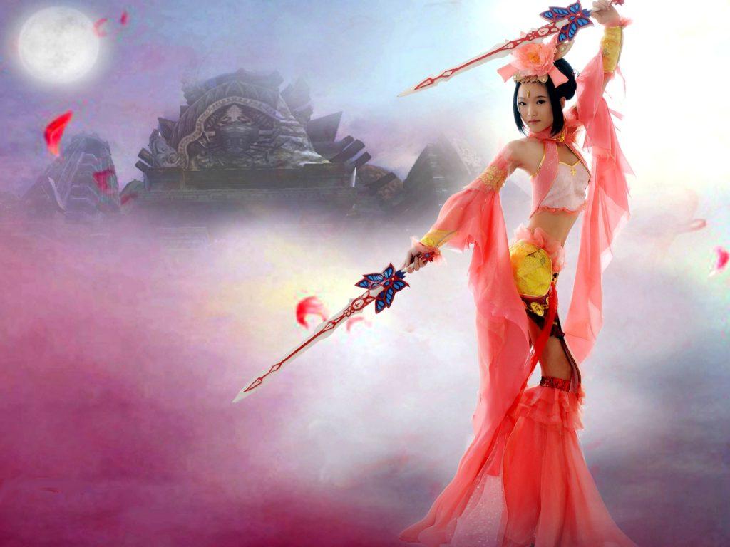 Angel 3d Wallpaper Desktop Dynasty Warrior Girl Desktop Background 588075