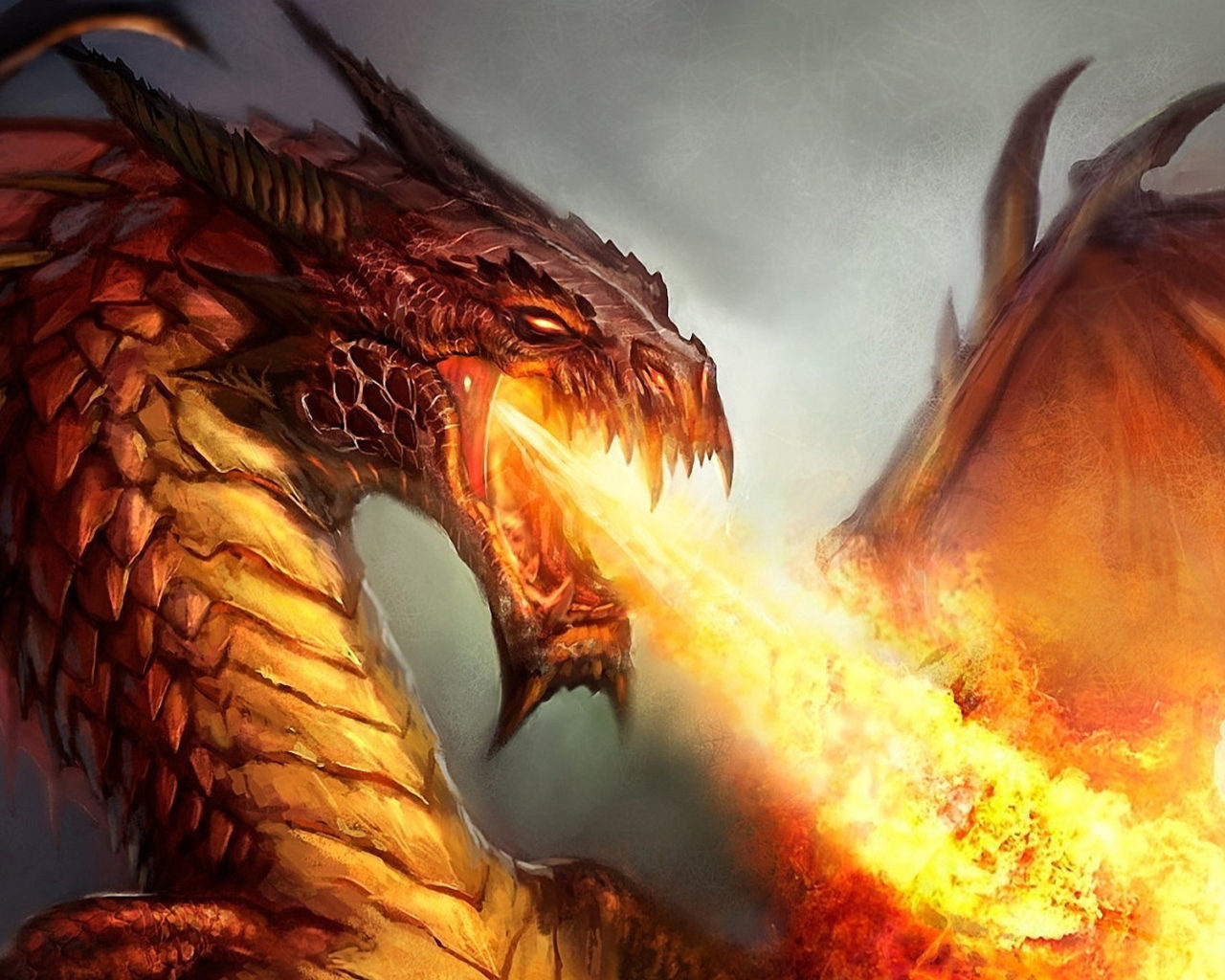 Pretty Girl Wallpapers Hd Fire Spitting Dragon 1920x1080 Wallpapers13 Com
