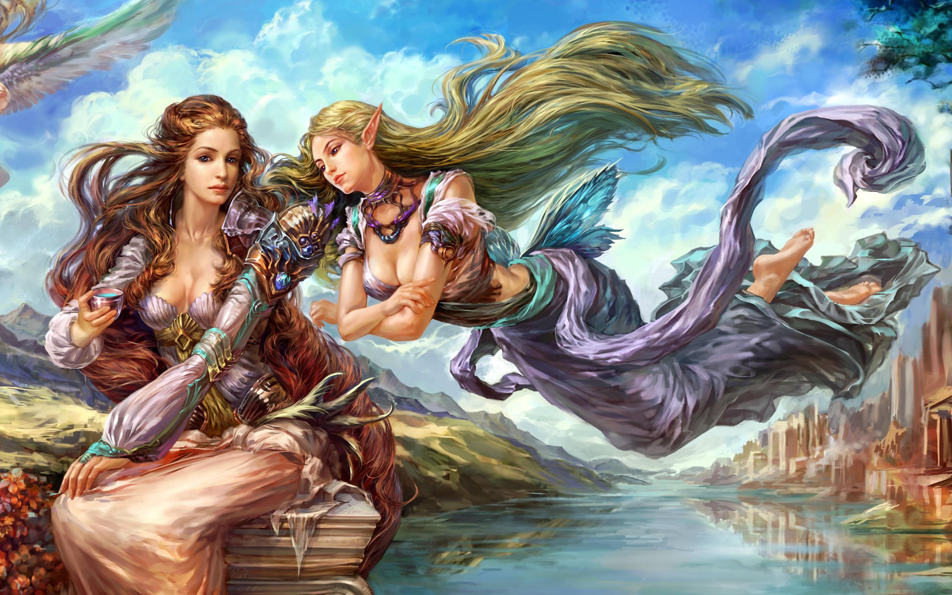 3d Art Wallpaper Girl Forsaken World Shenmo Online Fantasy Mmo Rpg Perfect 1fwso