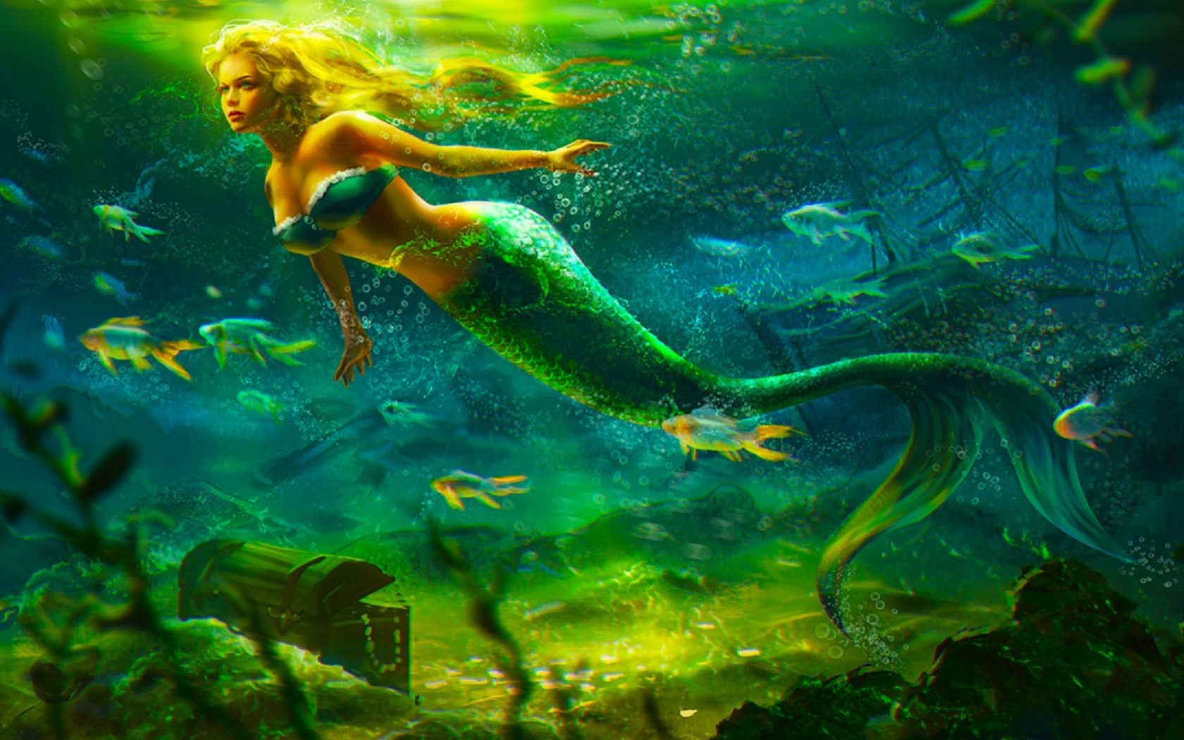 Cute Wallpapers For Your Tablet Mermaid Girl Kingdom Under Water Fantasy Art Hd Wallpaper