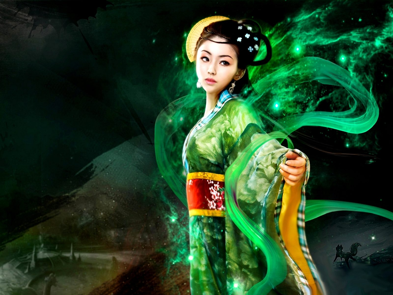 Red Dragon Girl Wallpaper Oriental Princess 245948 Wallpapers13 Com