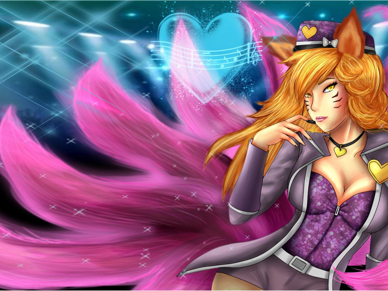 Girl With Spear Wallpaper Popstar Ahri By Solspear On Deviant Art Wallpaper Hd