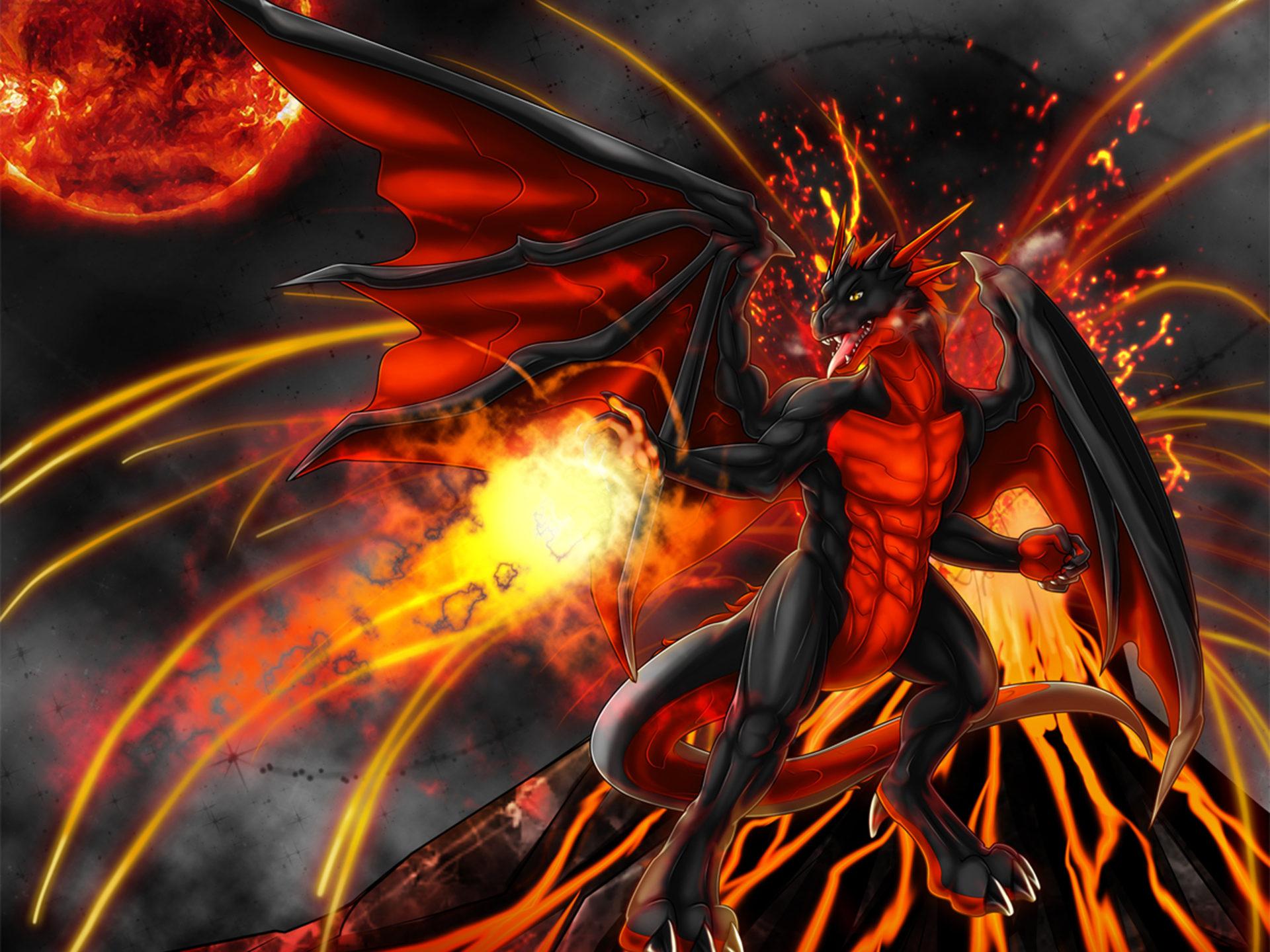 Monster Hunter Girl Wallpaper 1440 Red Dragon Anthro Desktop Hd Wallpaper 545224