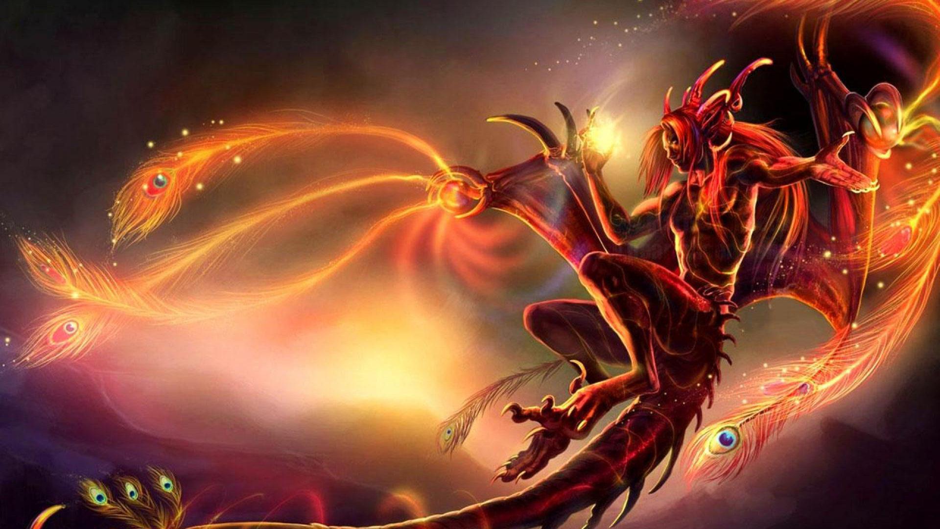 Beautiful Vampire Girl Wallpaper Red Creature Dark Cgi Devil Hell Fantasy Angel Wings