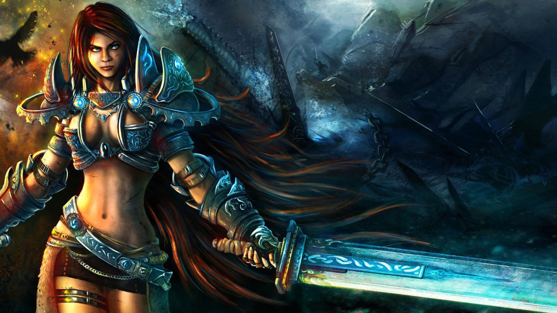 Gothic Girl Wallpaper Iphone Woman Warrior Fantasy Hd Wallpaper 2560x1440 26482