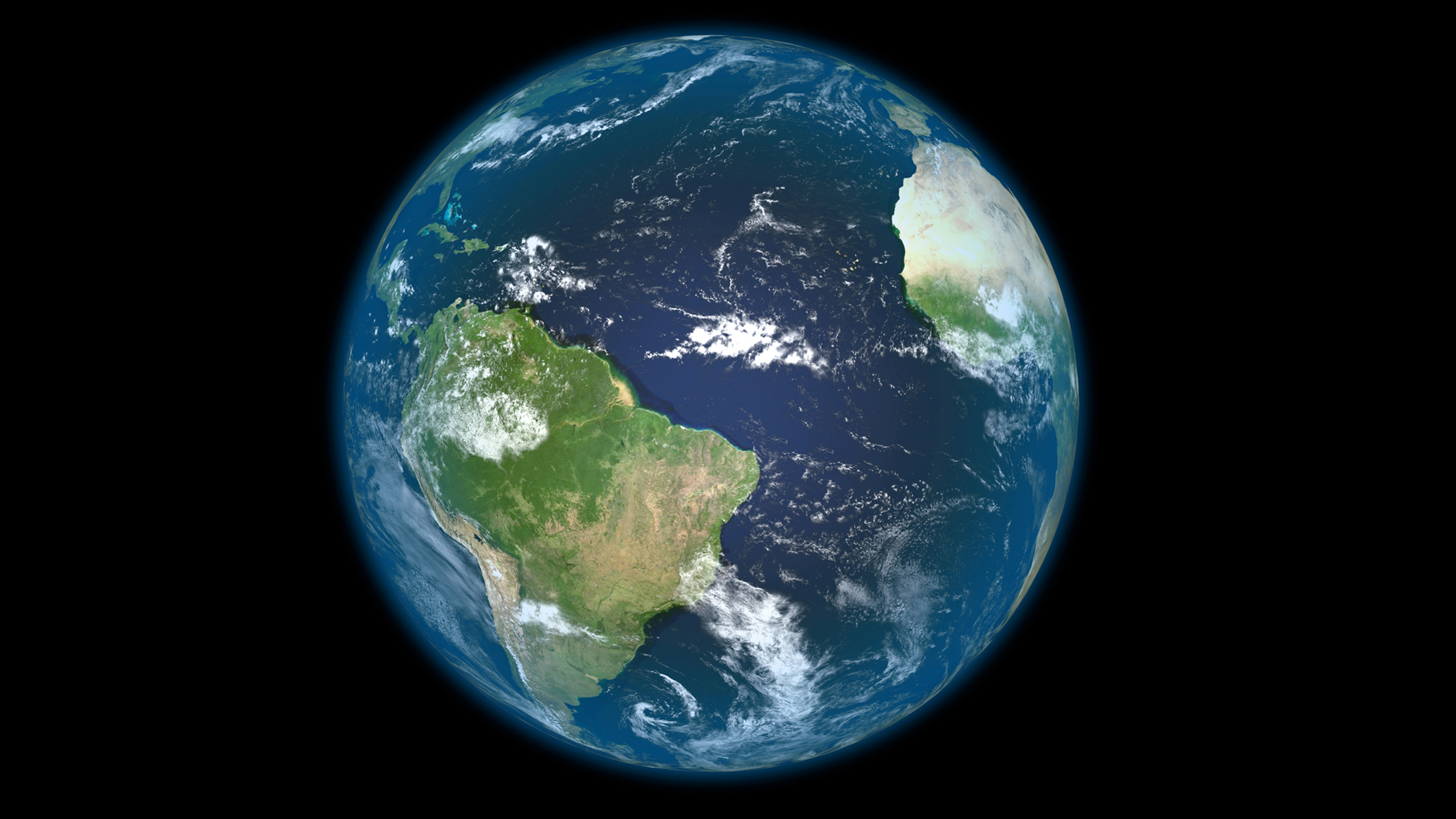 Earth From Cosmos Seen South America From Space