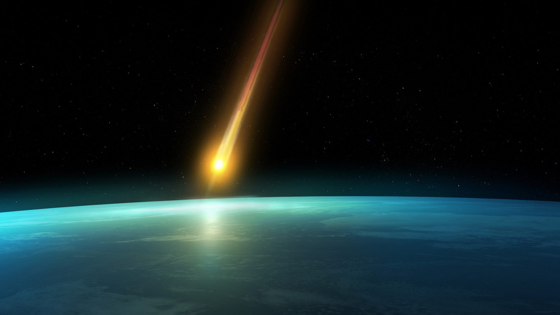 Wallpaper Falling Water Falling Comet In The Earth S Atmosphere Background Hd