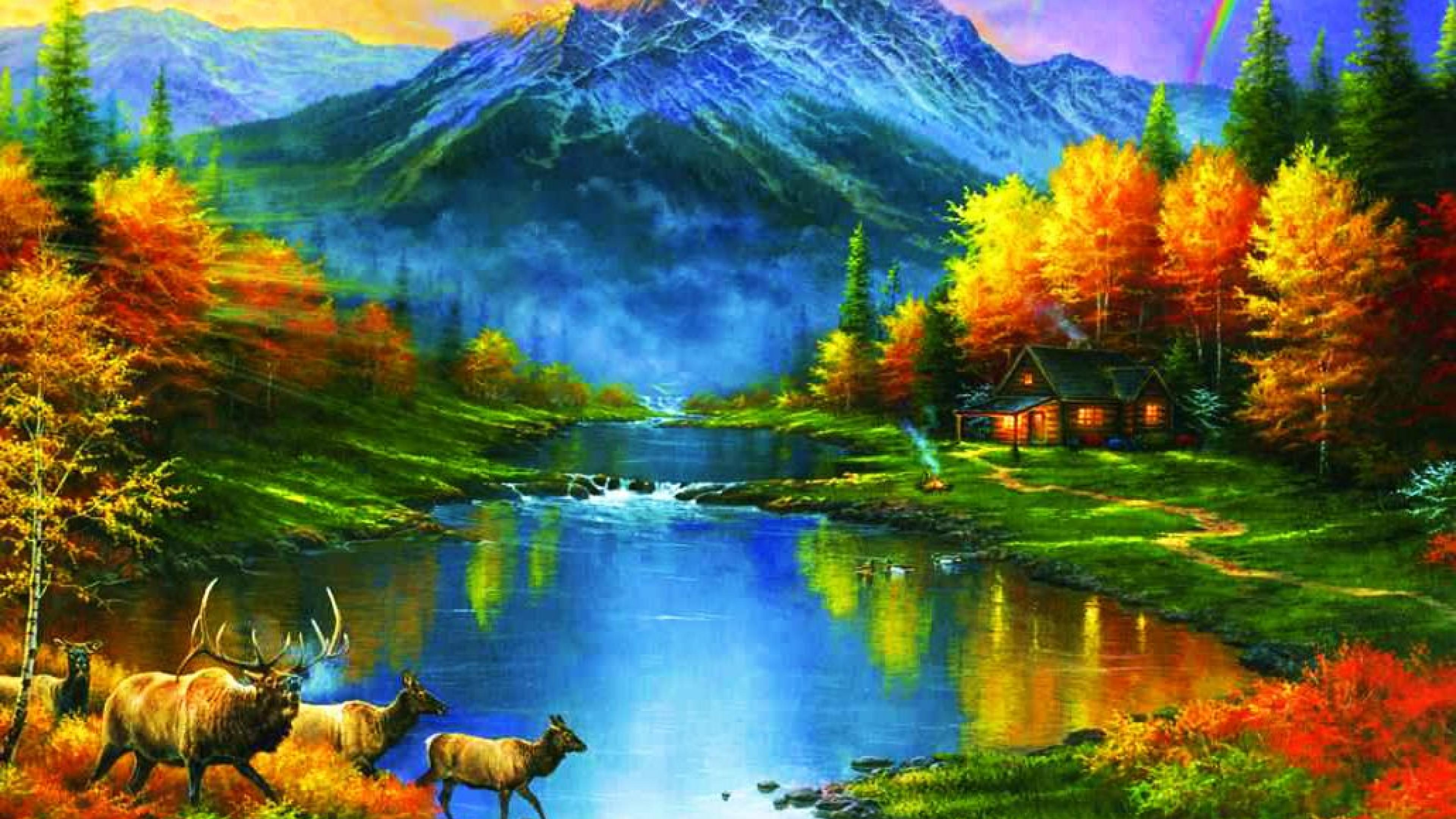 Fall Scene Wallpaper For Iphone Mountains At Fall Trees Leaves Lakes Colors Ultra Hd