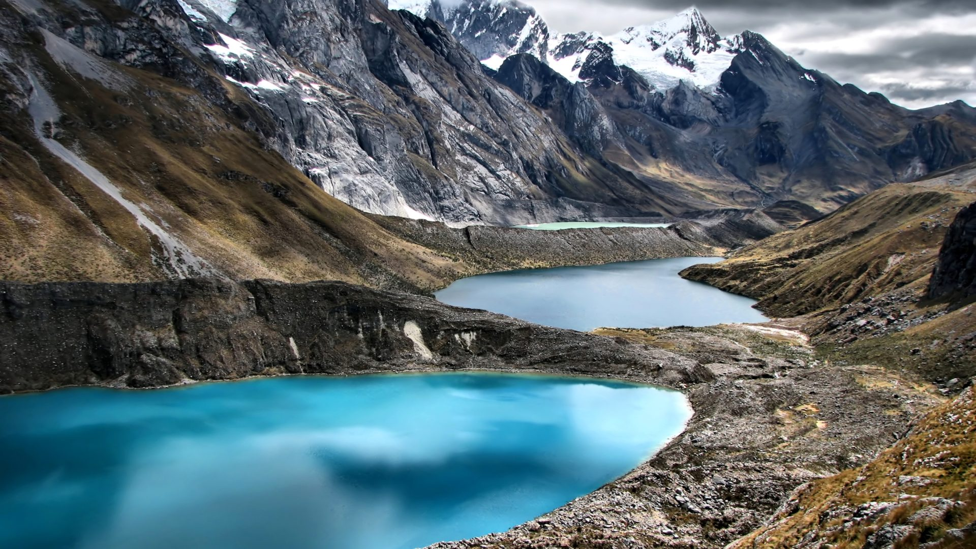 Free Fall Desktop Wallpaper Backgrounds Peru Mountains Lake Cordillera Huayhuash Nature 409980