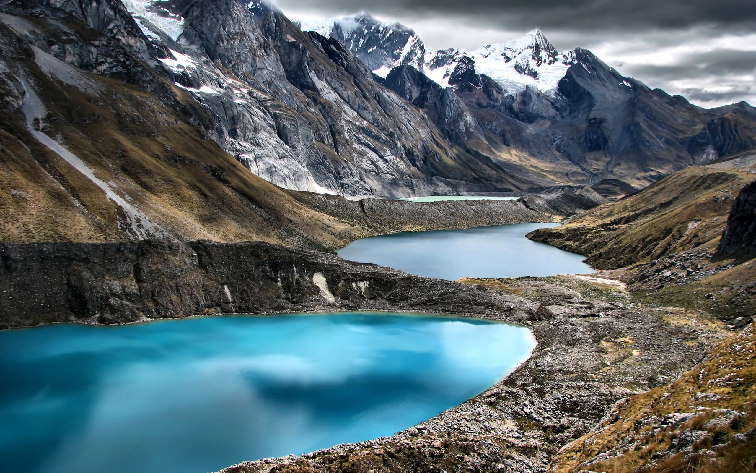 Pc Fall Wallpaper Peru Mountains Lake Cordillera Huayhuash Nature 409980