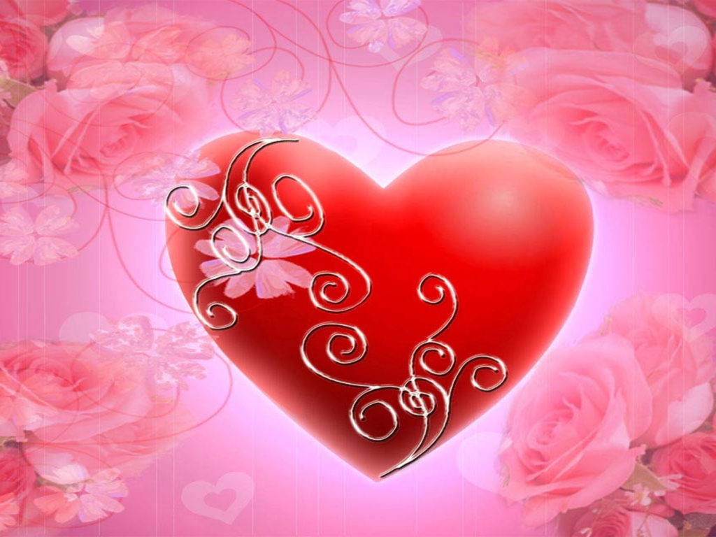 Beautiful Cute Roses Wallpapers Red Heart Pink Roses Hd Wallpaper Wallpapers13 Com