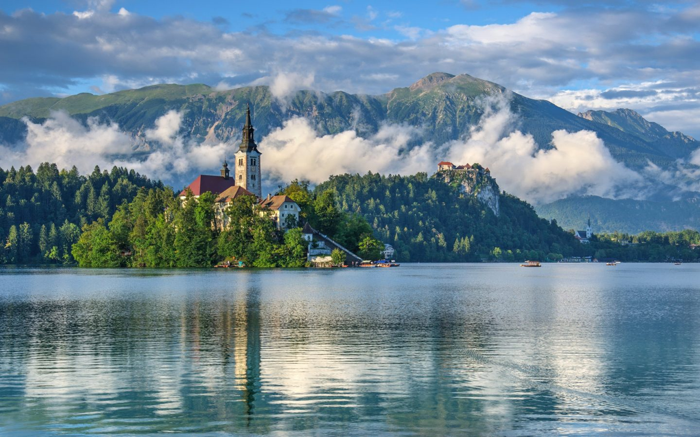 Animated Wallpaper For Tablet Slovenia Lake Scenery Mountains Lake Bled Nature 412283