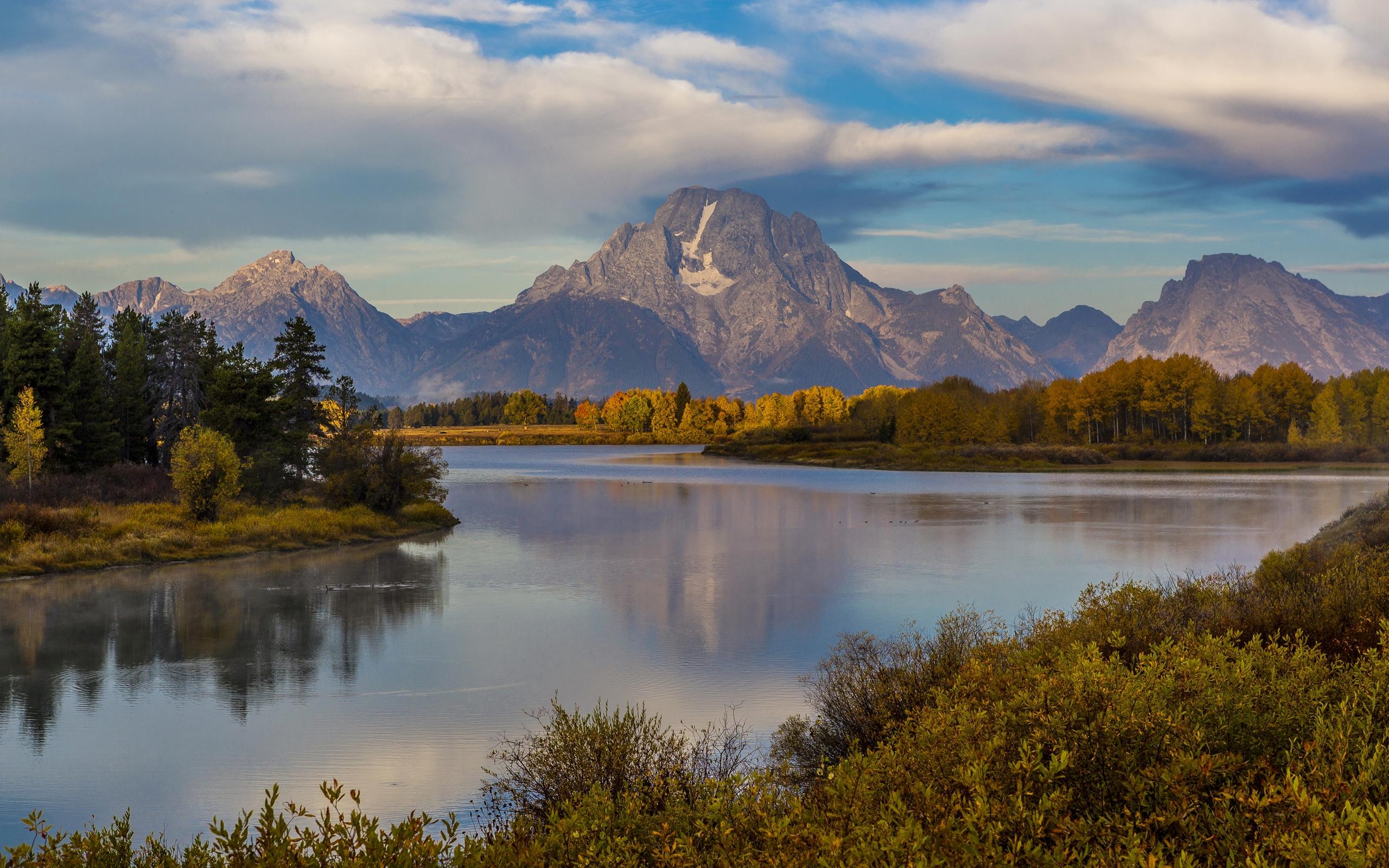 Fall Winter Wallpaper Free Usa Parks Mountains Lake Forests Sky Scenery Grand Teton