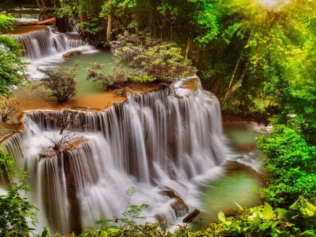 Live Wallpaper For Pc Free Download Hd Beautiful Waterfall Thail Desktop Background 498358