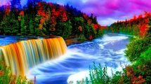 Colorful Waterfall Background 9665