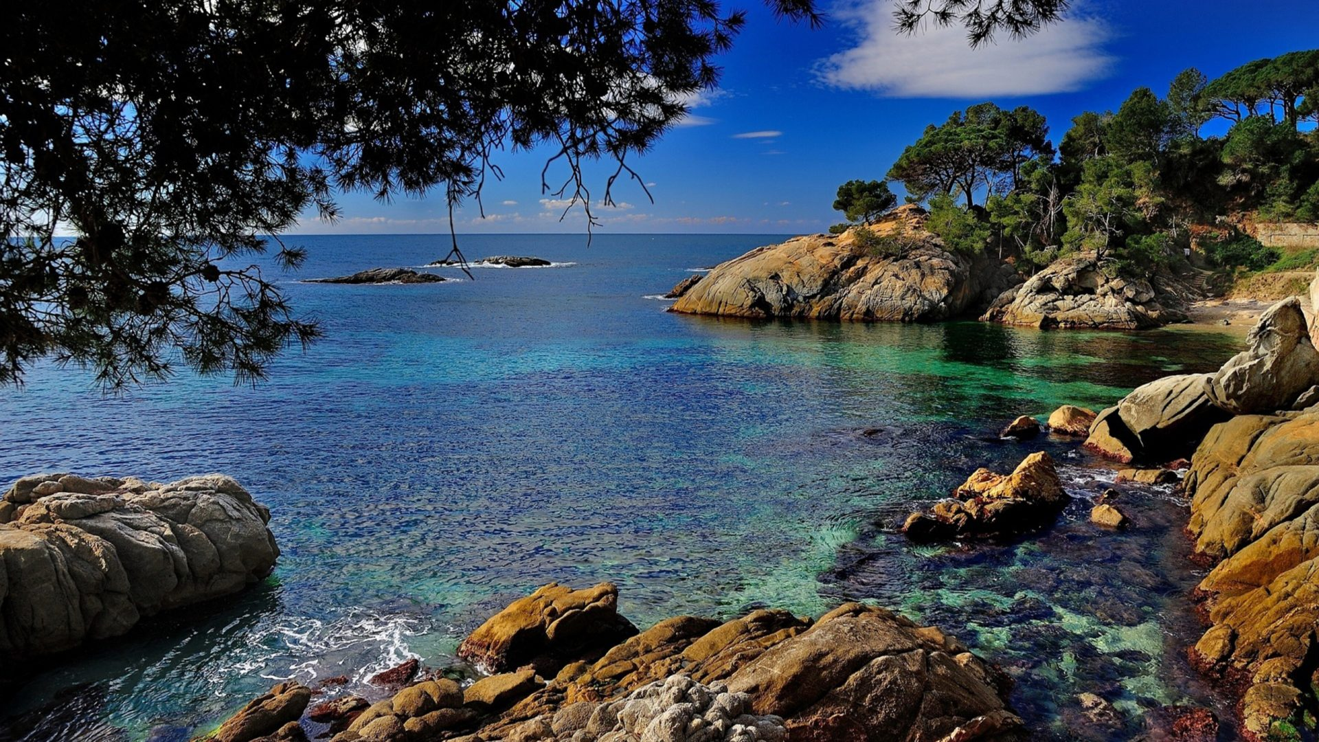 Iphone 5 Panorama Wallpaper Costa Brava Coast Spain 2560x1600 Wallpapers13 Com