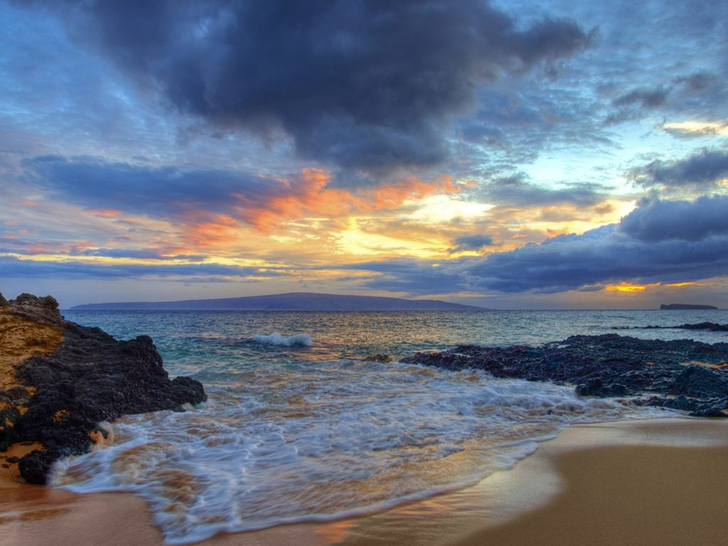Surf Iphone X Wallpaper Glowing Beaches Maui Hawaii Wide Wallpaper 574809