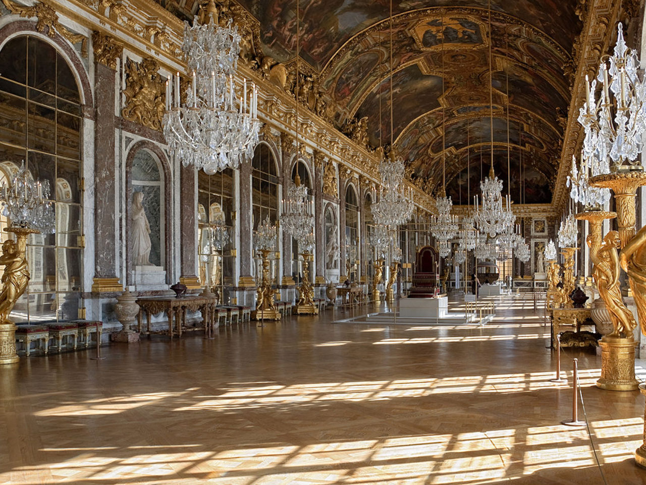 Donald Duck Iphone Wallpaper Hall Of Mirrors Palace Of Versailles Wallpapers13 Com