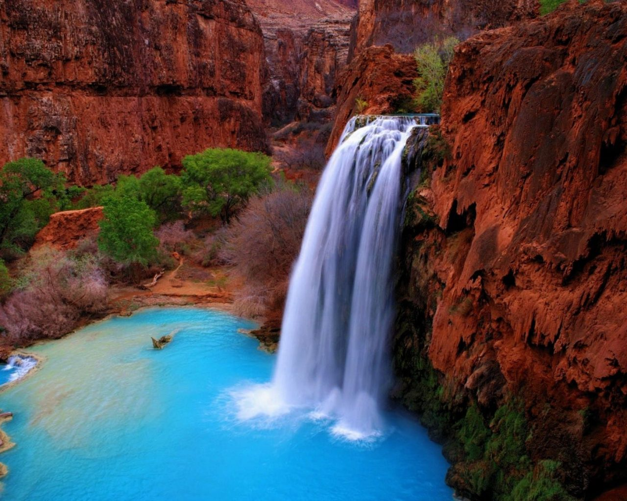 Fall Wallpaper For Android Tablet Havasu Falls Arizona Wallpaper Hd Wallpapers13 Com