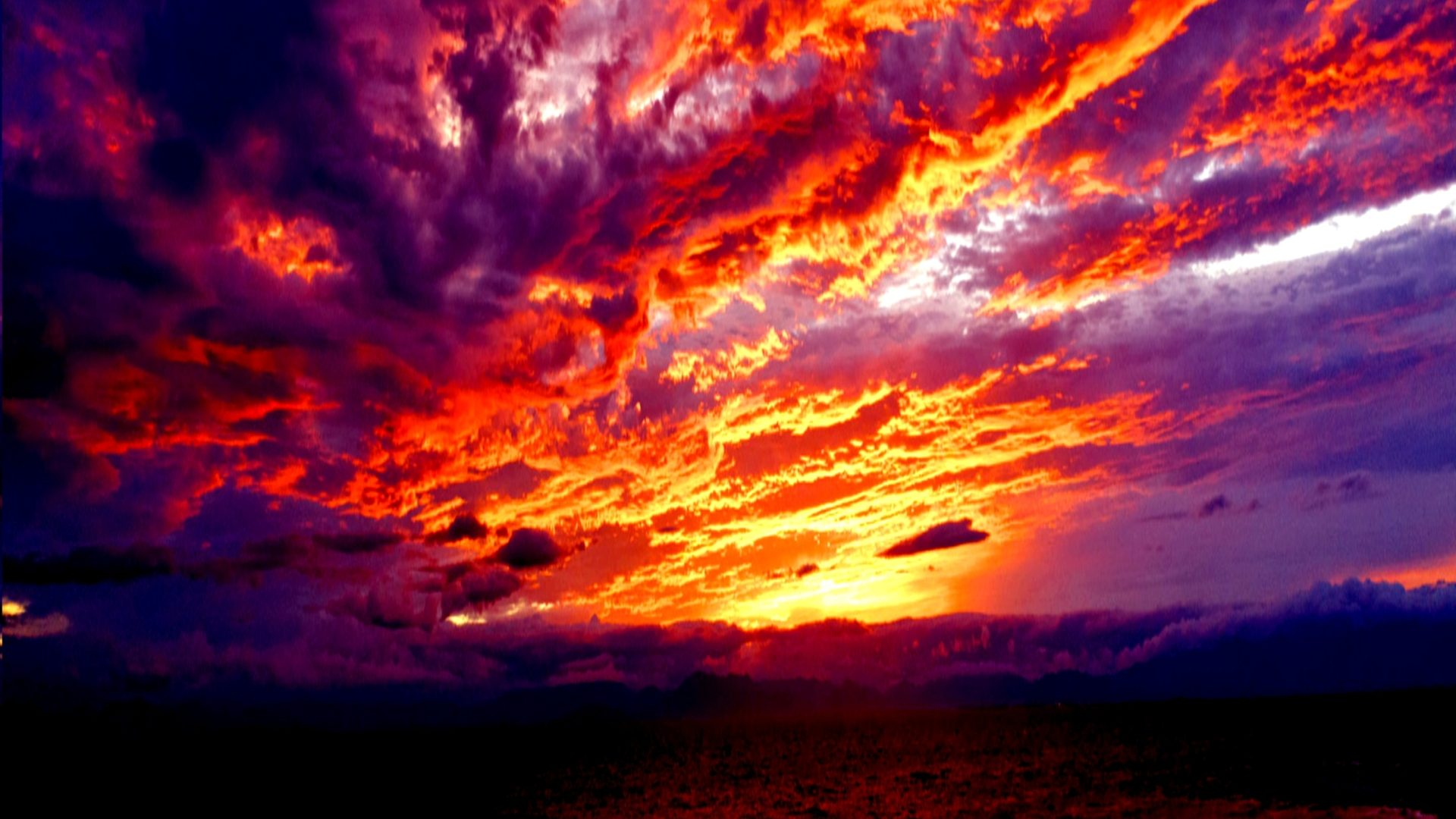 Bright Hd Wallpapers For Iphone Magical Sunset Wide Wallpaper 508090 Wallpapers13 Com