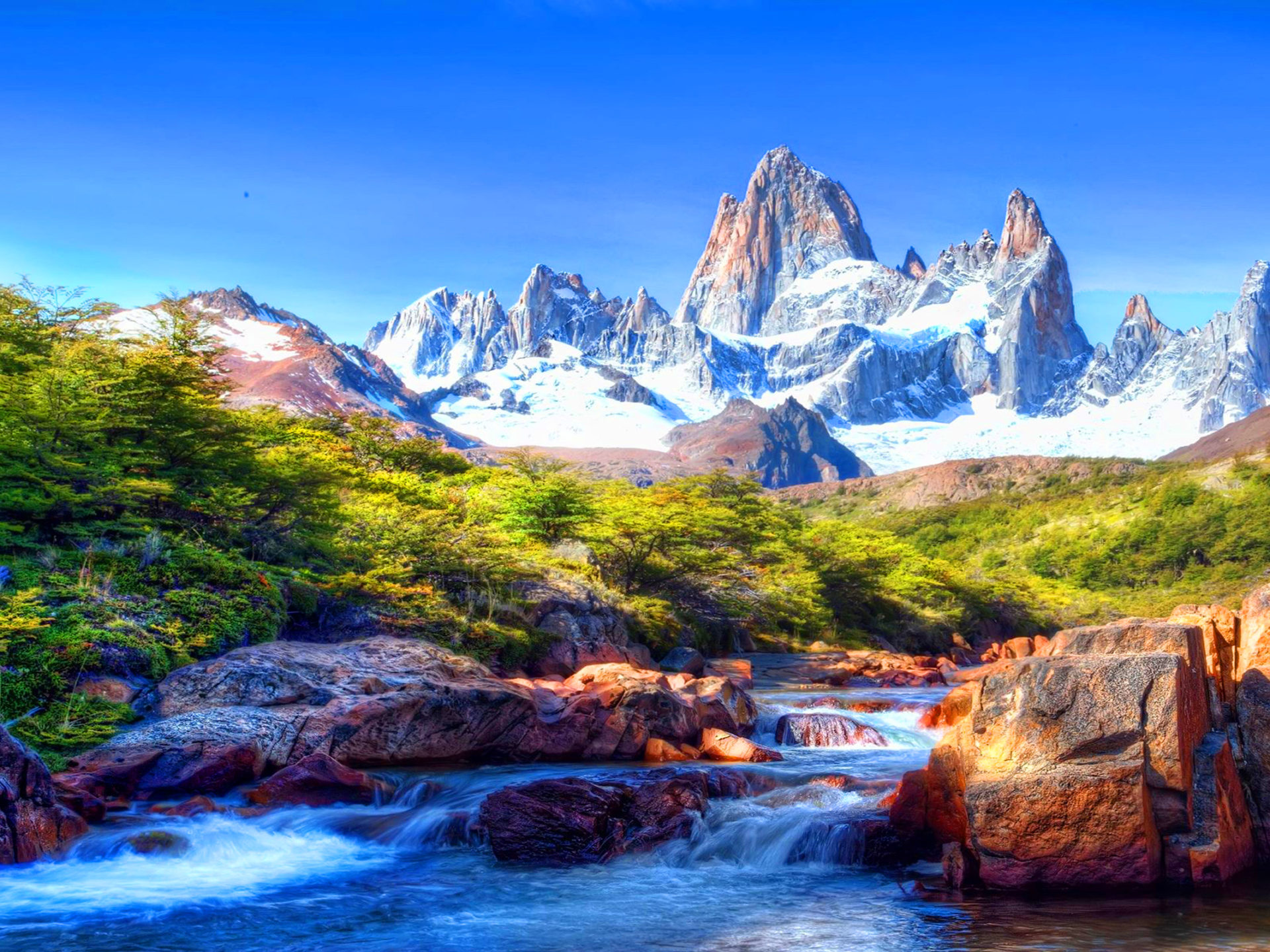 Fall Wallpaper Free Iphone Mountain Scenery With Snow Covered River Rocks Beautiful