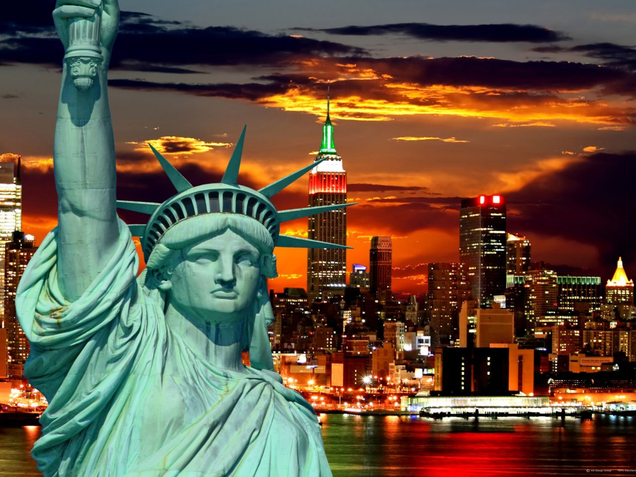 Free Christmas Wallpaper Iphone 4 New York City Statue Of Liberty Wallpaper Ftm 0812 1